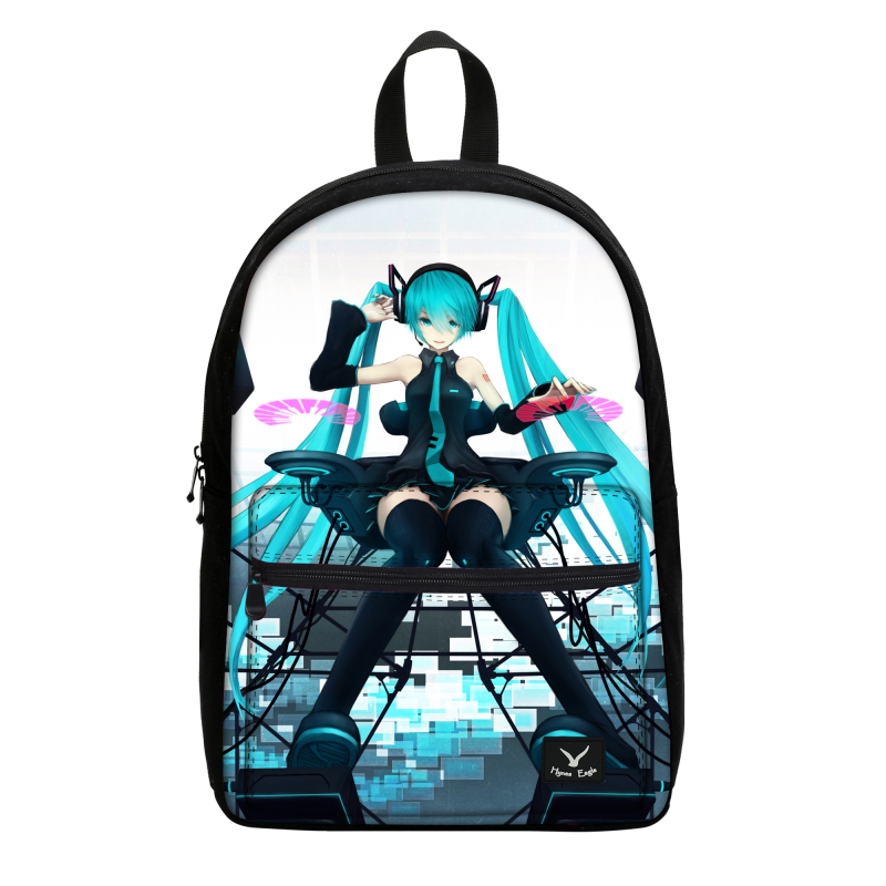 Hot Sale Hatsune Miku Canvas Backpack Women Printed Travel Laptop Daypack Anime School Bags For Teenager Girls Casual Campus Bag