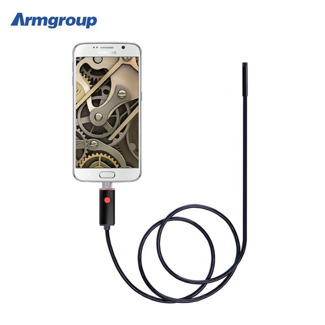 Lente de 8 MM 2 m 5 m 10 m HD Câmera de Inspeção Serpente Endoscópio USB Endoscópio Android Mini Câmera Endoscopio Android Endoscoop
