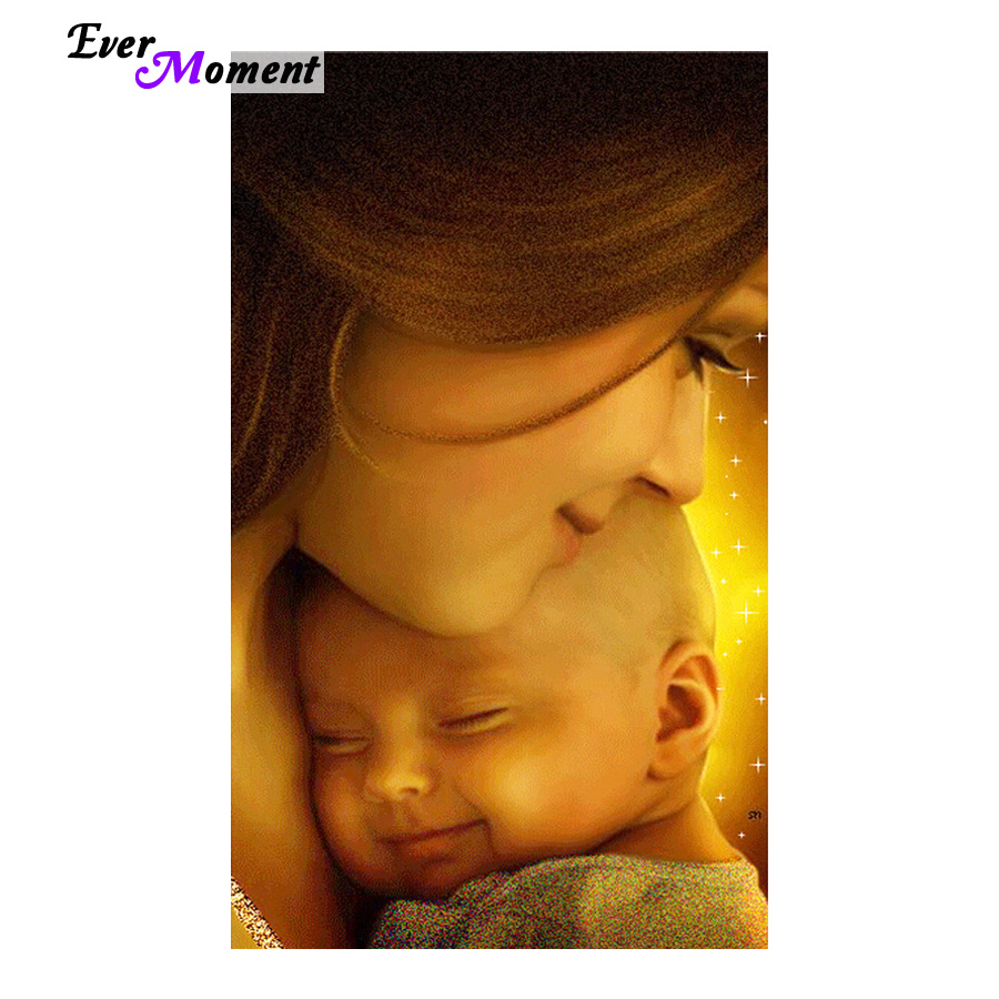 NEW DIY 3D Diamond Painting Mother and baby set canvas Diamond Mosaic decoration Crafts Mosaic Diamond Embroidery icons ASF426