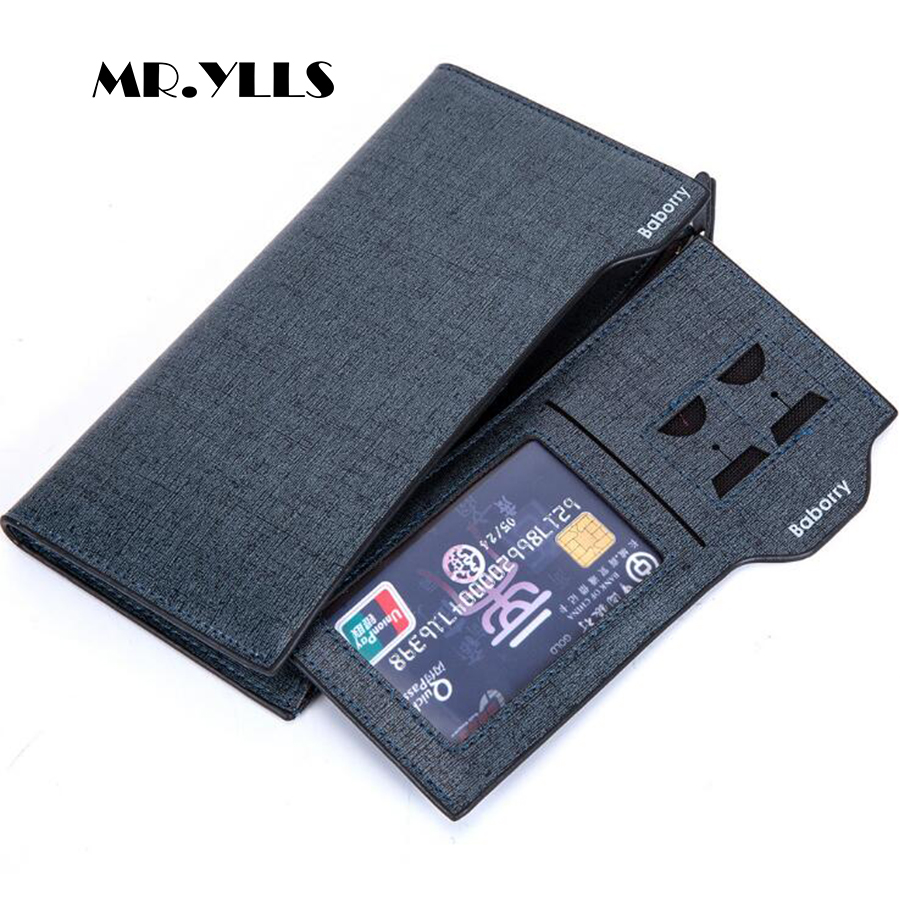 MR.YLLS 2018 Fashion Wallet Men Wallets Brand Card Holder Long Purses Multi-Card Bit High Quality Design Coin Male Credit&Id New