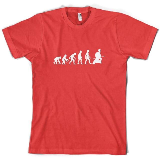 b4db3f69 Evolution of Man Spartan - Mens Spartacus T-Shirt - Gladiator - 10 Colours  Print T Shirt Mens Short Sleeve Hot Tops Tshirt Homme