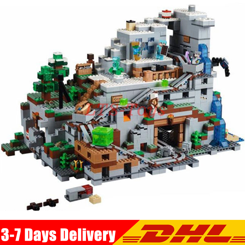 IN Stock DHL LEPIN 18032 2932 PCS The Mountain Cave Model Building Kit Blocks Bricks Children Toys Clone Legoed 21137 high quality stainless steel sus304 hook style satin kitchen bathroom bar style suction cup rolling tissue toilet paper holder