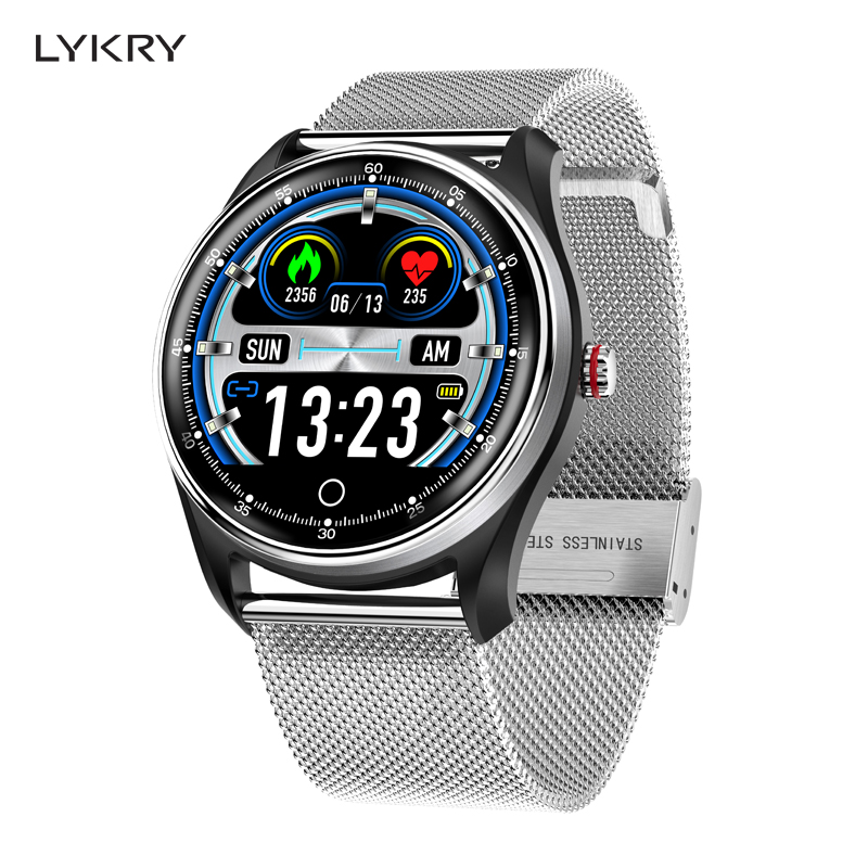 LYKRY MX9 ECG PPG Smart Watch Blood Pressure Heart Rate Monitor Multi languages Life Waterproof Smartwatch For Men Women-in Smart Watches from Consumer Electronics