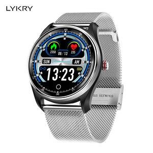 Image 1 - LYKRY MX9 ECG PPG 스마트 시계 혈압 심장 박동 모니터 남성 여성을위한 다국어 생활 방수 Smartwatch