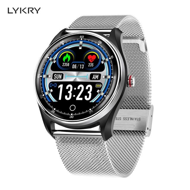 LYKRY MX9 ECG PPG 스마트 시계 혈압 심장 박동 모니터 남성 여성을위한 다국어 생활 방수 Smartwatch