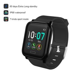 Image 2 - L8star b1 inteligente saúde pulseira de fitness 60 dias à espera relógio rastreador bateria poderosa freqüência cardíaca pressão arterial oxigênio sono