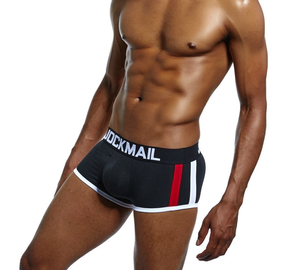 2824c107aa2f JOCKMAIL Brand 5 Value Packs Mens Underwear Boxers Trunks Bulge Enhancing  Push Up Cup Gay Underwear Enlarge Cueca Shorts Panties