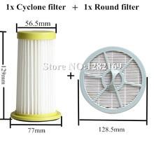 1 шт., детали для пылесоса Vacumm, HEPA фильтр и 1 шт., сменный круглый воздушный фильтр для Philips FC8260 FC8261 FC8262 FC8264