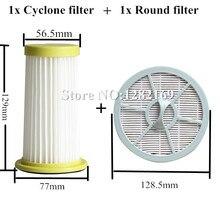 1x Vacumm Cleaner Onderdelen Hepa Filter En 1x Ronde Luchtuitlaat Filter Vervanging Voor Philips FC8260 FC8261 FC8262 FC8264