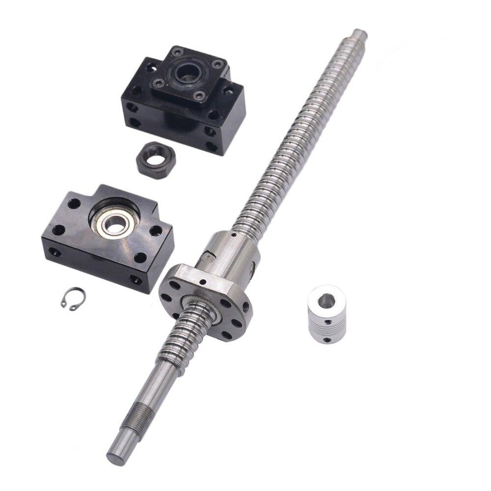 SFU1605 200-1700mm Ball Screw with Ballnut RM1605 Ball Screw End Machined CNC