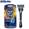 Fusão gillette originais proshield flexball barbeador barbear lâminas de barbear com fator legal 1 alça + 1 lâmina de barbear para homens