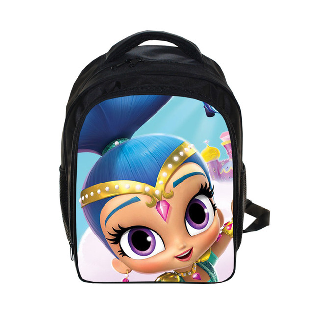 3cb0ee1ca974 Lovely style Shimmer and Shine print Backpack Students School Bag For Girls  Boys Rucksack mochila children Backpack customize -in Backpacks from  Luggage ...