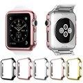 Material do pc rígido caso capa protetora para i-relógio apple watch série 1/2 38mm 42mm à prova de poeira à prova de choque preciso recortes quadro