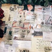 51 unids/pack Vintage Old Posters C Vellum Paquete de papel para DIY planificador de colección de recortes tarjeta haciendo diario proyecto
