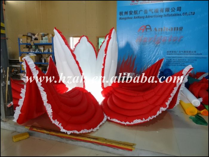 Newest Giant Inflatable Flower with LED Light for Wedding Decoration inflatable cartoon customized advertising giant christmas inflatable santa claus for christmas outdoor decoration