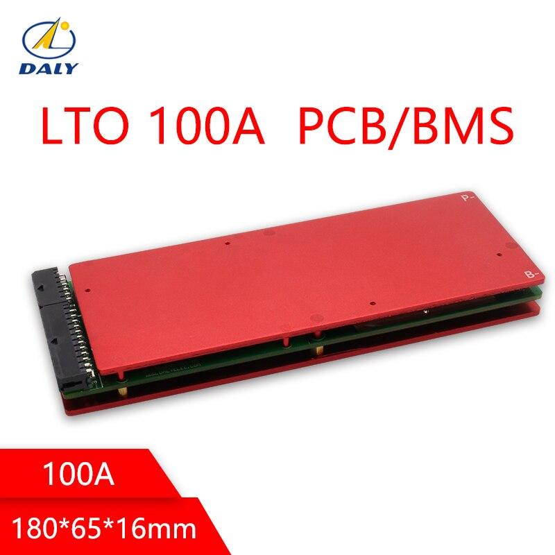 BMS bateria de Daly 5S 35 30 20 15 10 s s s s s 100A titanato de lítio circuito de proteção da bateria placa BMS PCM para bateria LTO