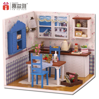 IiE CREATE DIY Doll House Wooden Doll Houses Miniature Dollhouse Toys With Furniture LED Lights Birthday