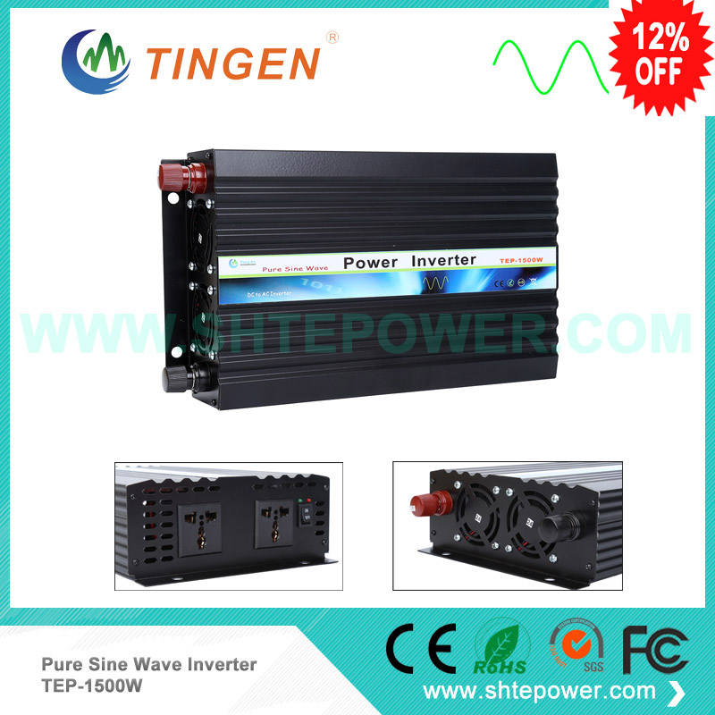 Factory Sell__1500W(12vdc,24vdc to 110vc,120vac,220va,230vac,240vac) Pure Sine Wave Output dc to ac Inverter