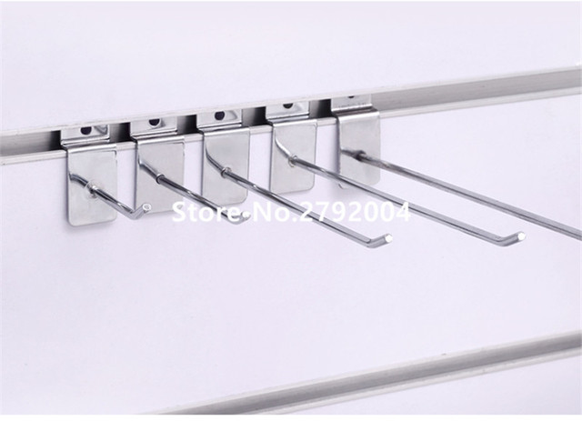 (100 pcs/pack ) 20cm Length 6mm Diameter Retail Shop Exhibition Slatwall Display Hook