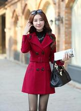 Autnmn and winter new women's new woolen jacket women in the long paragraph woolen coat