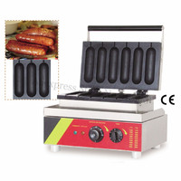 Snack Bar Device Sausage Gril Waffle Machine Stainless Steel Lolly Hotdog Waffle Maker Nonstick Cooking Surface