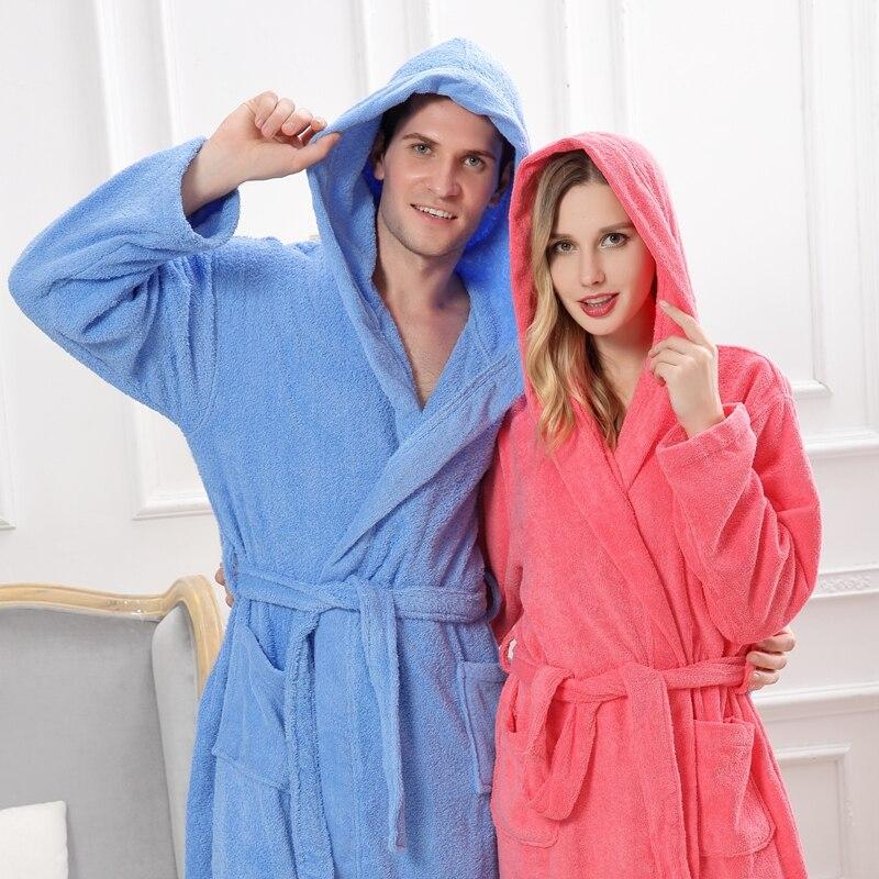 Для женщин халат с капюшоном флис зимние теплые большие размеры XXL толстый длинный полотенце ночная рубашка белая мягкая невесты халаты пиж...