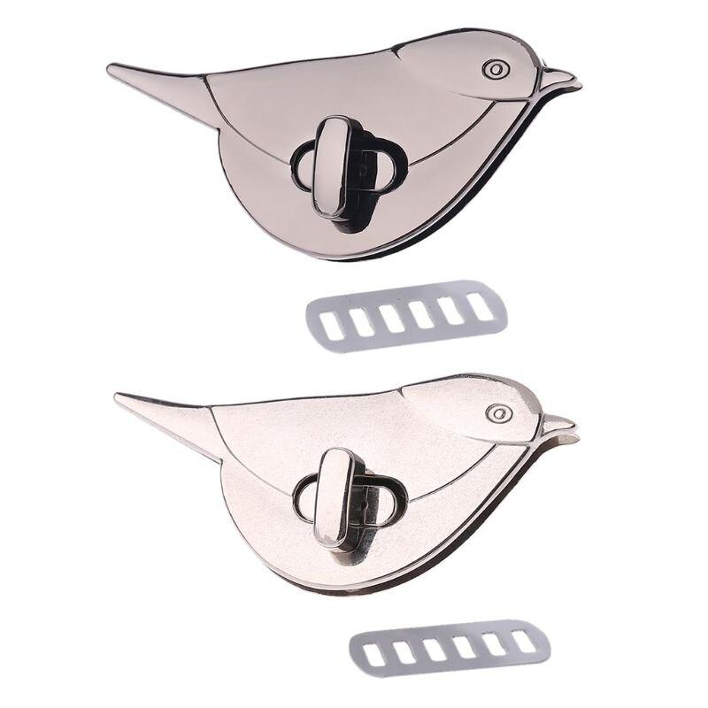 New Fashion Bird Shape Clasp Turn Lock Twist Locks Metal Hardware For DIY Handbag Bag Purse