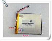Bán buôn 10 cái 3.7 V 3000 mah 407090 Polymer Lithium Li-Po Sạc pin Cho PSP GPS DVD PAD e-book tablet pc power ngân hàng