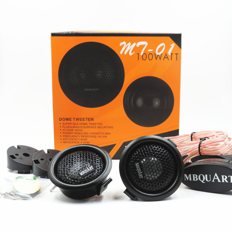 Car Speakers | High Quality 100W Car Speaker Silk Dome Tweeter Treble Head Loud Speakers For Vehicle Auto Music Stereo
