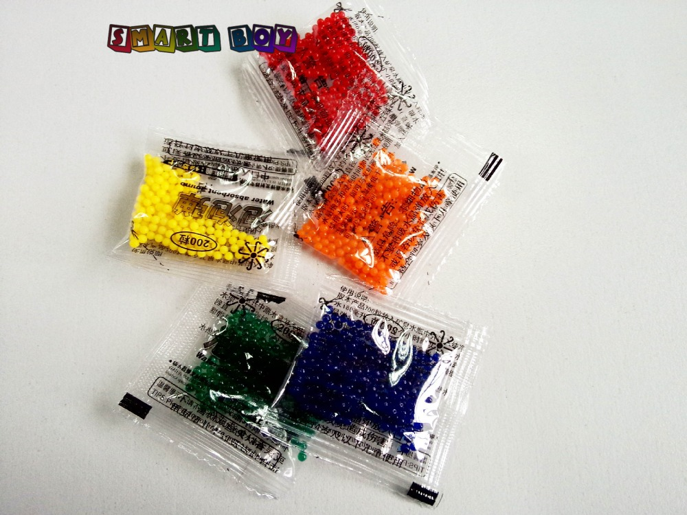 5pack/lot 200pcs Small pack Paintball Bullet For Orbeez Gun Nerf Gun 10-11mm Soft Crystal Bullet ToyGun for boy & girl Kid