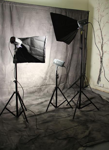 Décors de photographie de mousseline teints personnalisés vieux fond de mousseline de maître pour studio de photo 6X10ft 10X12ft 10X16ft - 6