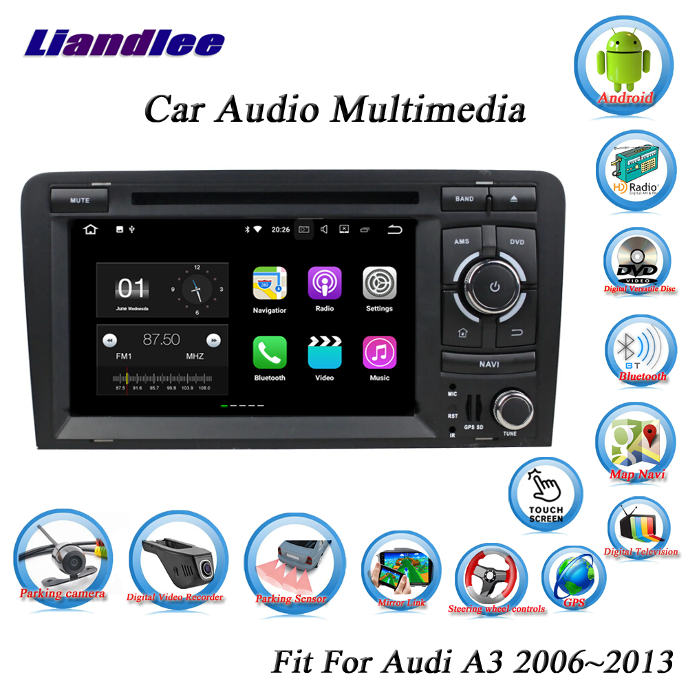 Liandlee Auto Android System Für <font><b>Audi</b></font> <font><b>A3</b></font>/8 P 2006 ~ 2013 <font><b>Radio</b></font> CD DVD Player GPS Karte Nav navi Navigation BT TV Screen Multimedia image