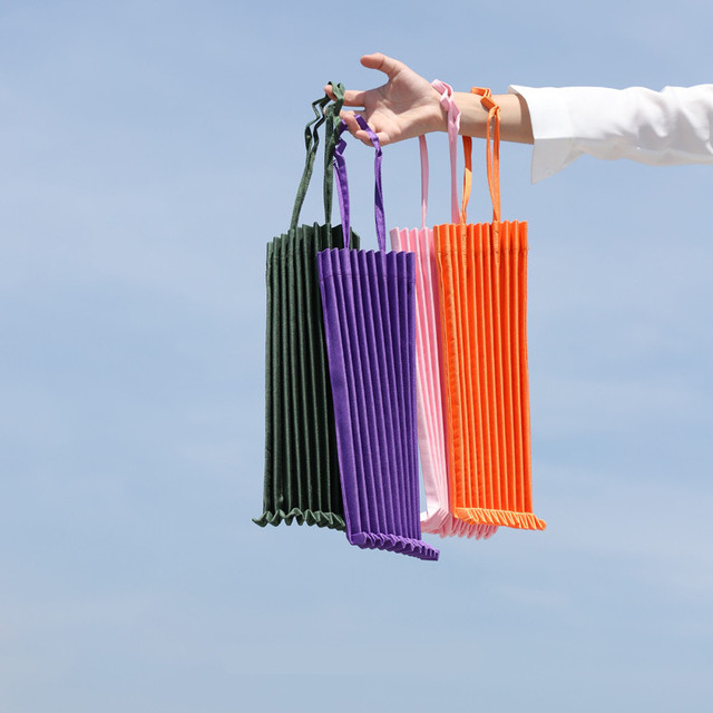 23457b71d825 Casual Ruched Totes Bag kna plus vertical-pleats Bag Me Eco Shoulder Bag  Shopping Bag Pleated Girls Female Handbag