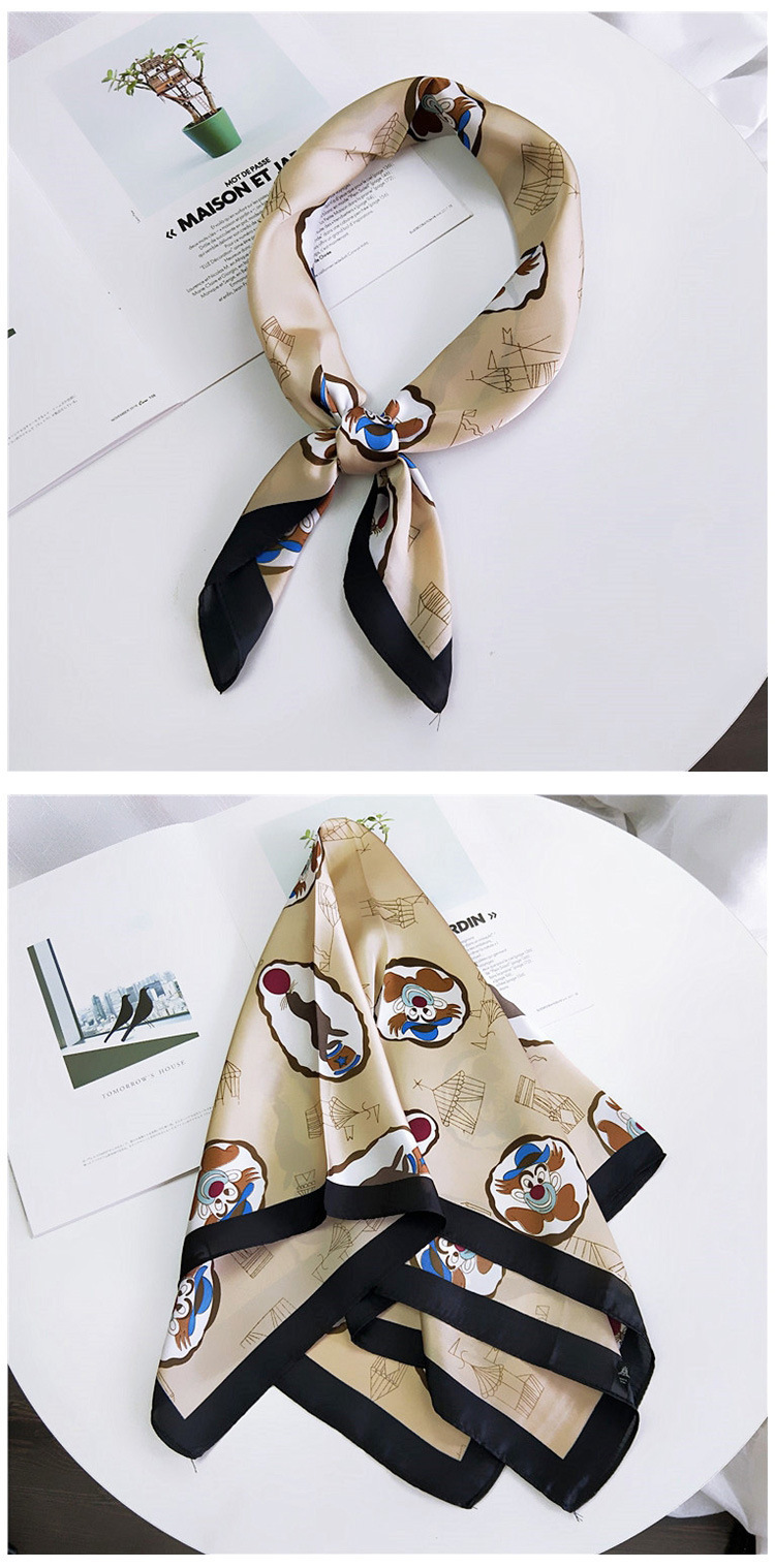 HTB1whvqenZmx1VjSZFGq6yx2XXaZ - 70*70cm Fashion Kerchief Cartoon Scarf For Women Animal Print Hair Scarf Female Square Neckerchief Cute Headband Scarves