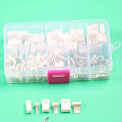 KF2510 Kits 50 sets Kit 2p 3pin 4 pin Pitch electrical connector with box male female 2.54mm wire connector terminal