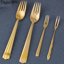 Brass family western fork dessert salad children small Copper fruit lunch dinner for picks food friends gifts