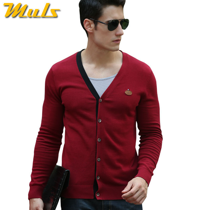 8 Colors Crochet Patterns Mens Sweaters Cardigan Autumn Colorful V