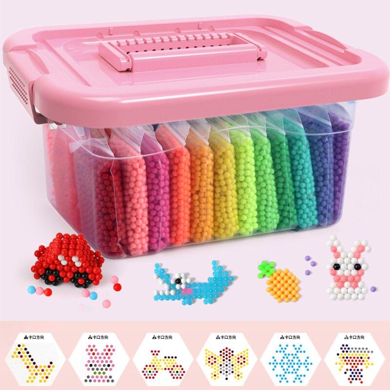 Montessori Bildung Gehirn Kreative Magie Aqua Perlen Box Kit Mädchen Jungen Kristall Kind Baby Spielzeug Kinder Handgemachte Diy 3 5 7 8 jahre