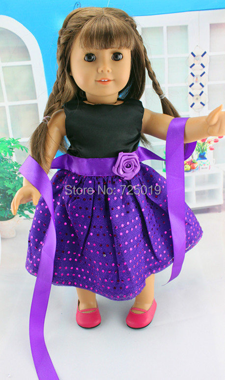Free shipping hot 2014 new style Popular 18 American girl doll clothes dress