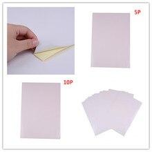 5 шт/10 шт A4 Глянцевая Самоклеящаяся Бумага для печати этикеток лист для офиса 210 мм x 297 мм