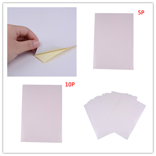 5pcs /10 Pcs  A4 Glossy Self-adhesive Sticker Label Printing Paper Sheet For Office 210mmx297mm