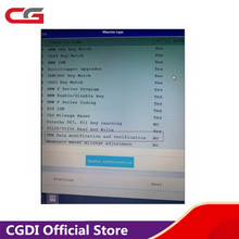 Data modification and verification for BMW for CGDI Prog for BMW MSV80 Key Programmer