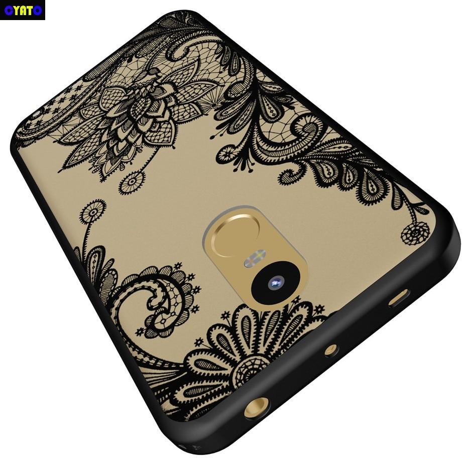 Cyato hard Case PC para Xiaomi redmi note 4 caso redmi note 4 pro nobre rendas Floral Tampa Casos de Telefone para Xiaomi redmi note 4
