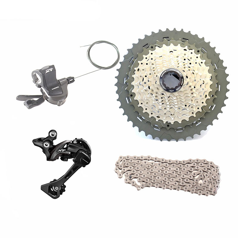 SHIMANO DEORE XT M8000 1x11 11s Speed Groupset Long Cage SGS Rear Derailleurs/Shifter Lever/Cassatte/Chain 11-40T/11-42T/11-46T shimano slx m7000 groupset 1x11 11s speed 11 42t 11 46t m7000 mtb bike shift lever rear dearilleur cassette chain cranset