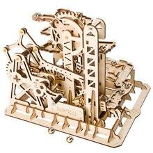Hot populaire 3D bricolage assemblé en bois maison de poupée série vapeur tige modèle jouets modèle Kit-tour Coaster LG504