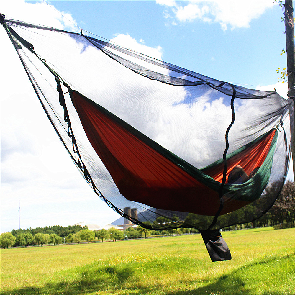 Portable Ultralight Hammock Mosquito Net For Outdoor Survival Nylon Material Anti-Mosquito Nets With 340*140cm Super Size 1pcs summer mosquito screens anti mosquito nets household doors and windows decoration screen mesh can be customized your size