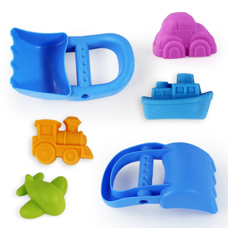 5PCS Set Transportation Sand Clay Tool With Shovel Beach Toys Novelty Mold Building Model For Child Baby Out Fun Toys On Holiday
