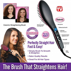 Image 3 - Pro Straightening Irons Electric Simply Hair Straightener Brush Styling Hair Straightener Comb Hair Care Auto Massager Fast Hair