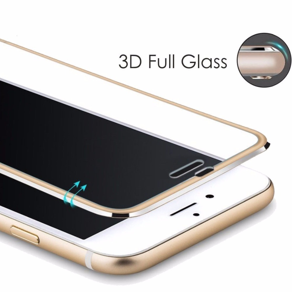 Tempered glass bag For Apple iphone 6 6S 7 8 plus X Mobile phone Accessories Full screen coverage cover for iphone 7 plus 5S SE