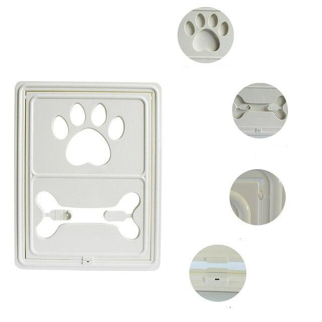 Controllable Lockable Plastic Pet Dog Cat Door for Screen Window Safety Flap Gates Pet Door Dog Fence Free Access Door for Home 2